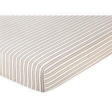 Giraffe Striped Fitted Crib Sheet