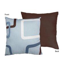 Geo Blue Cotton Throw Pillow
