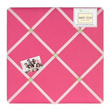 Flower Pink and Green Memo Board