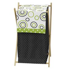 Spirodot Lime and Black Laundry Hamper