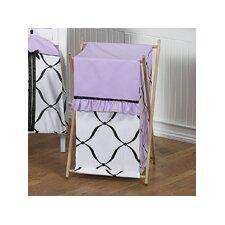 Princess Black, White and Purple Laundry Hamper