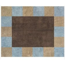 Soho Blue and Brown Outdoor Area Rug