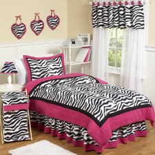 Zebra Pink Funky Kid Bedding Collection