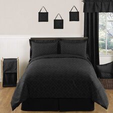 Diamond Black 4 Piece Twin Comforter Set