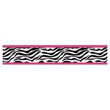 "Zebra Print 15' x 6"" Border Wallpaper"