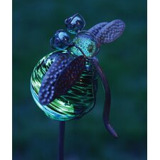 Dragonfly Illuminaries Glow in The Dark Stake with Globe (Set of 4)