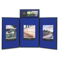 3 Panel Tabletop Enclosed Cabinet Bulletin Board, 3' x 6'