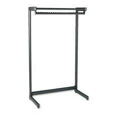 Wide Single Side Garment Rack with Shelf