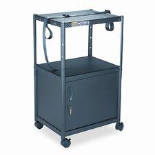 5-in-1 Adjustable-Height AV Cart with Cabinet