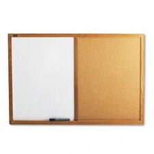 Combo Bulletin Board, Dry-Erase Melamine/Cork