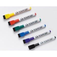 6 Count Low Odor Rewritable's Dry Erase Mini Marker Set