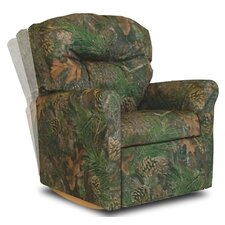 Contemporary Camouflage Fabric Rocker Kids' Recliner