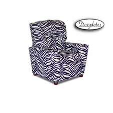 Zebra Child Recliner Chair with Cup Holder