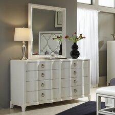 Cosmopolitan 8 Drawer Dresser with Mirror