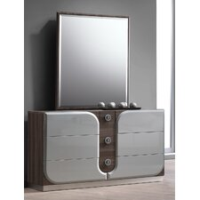 London 6 Drawers Dresser with Mirror