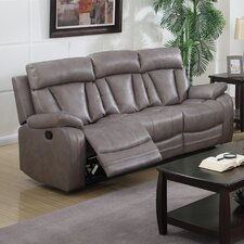 Modesto Bonded Leather Reclining Sofa