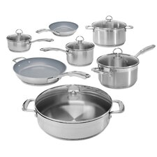 Induction 21 Steel 12 Piece Cookware Set