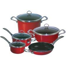 Copper Fusion Copper 9-Piece Cookware Set