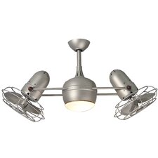 """39"""" Dagny 6 Blade Dual Ceiling Fan with Wall Remote"""