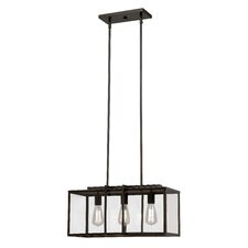 Boxed 3 Light Kitchen Island Pendant