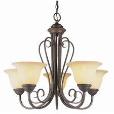 "New Century 21.25""  Chandelier in Antique Bronze"