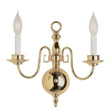 Williamsburg 2 Light Wall Sconce in Brushed Nickel