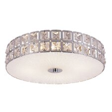 Contemporary Crystal Flush Mount