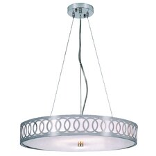 Contemporary 6 Light Drum Pendant