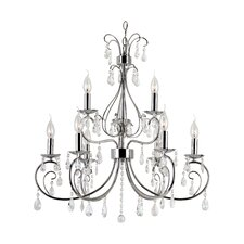 Chic Nouveau 9 Light Chandelier