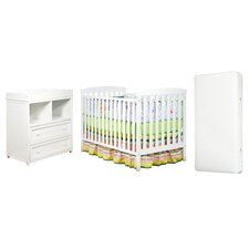 Leila Crib and Changer Combo with 150 Coil Mattress