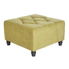 Duncan Large Diamond Tufted Upholstered Cube Ottoman
