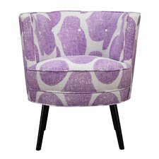 Lily Geometric Barrel Chair