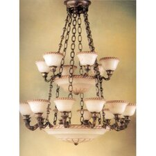 Valencia 27 Light Traditional Chandelier in Aged Bronze