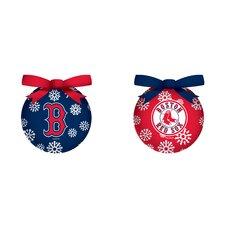 MLB 6 Piece LED Boxed Ornament Set