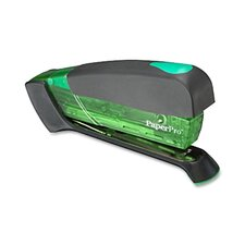 Stapler, Staples 20 Sheets, Rubber Handle, Various Colors, Translucent Green