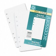 Lined Notes for Looseleaf Planners, 3-3/4 x 6-3/4, 48 Sheets per Pack (Set of 2)