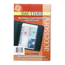 Business Card Holders for Looseleaf Planners, 5-1/2 x 8-1/2, Five per Pack