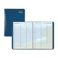 "Coastline Wirebnd Wkly Appointment Book, 2PPW, Jan-Dec, 8""x11"", Blue Cover, 2013"
