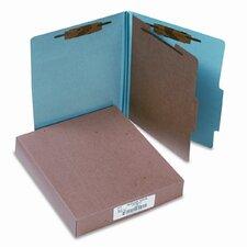 Pressboard 25-Pt. Classification Folders, Letter, Four-Section, 10/Box