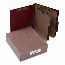 Pressboard 25-Pt. Classification Folder, 8-Section, 10/Box