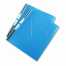 Hanging Data Binder w/Accohide Covers, 14-7/8 x 11, Blue
