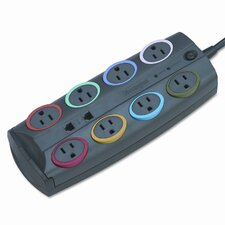 Kensington Smartsockets Prem Color-Coded Adapter Surge Protector