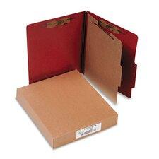 Pressboard 25-Pt. Classification Folder, Letter, Four-Section, 10/Box