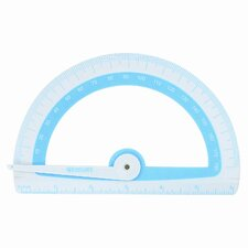 "Microban Soft Touch Antimicrobial Protractor, 6"", 180°, GN;BE;PK;OE, 1 EA (Set of 3)"