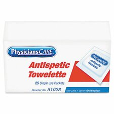 Physicianscare First Aid Antiseptic Towelettes, Box of 25 (Set of 2)