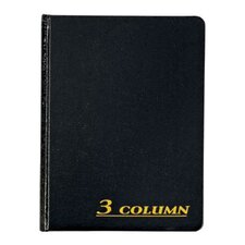 3 Column Cloth Cover Account Book (Set of 36)