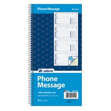 2 Part Carbonless Spiral Phone Message Book (Set of 900)