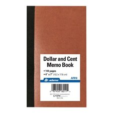 "7"" x 4"" Dollar and Cent Memo Book (Set of 1152)"