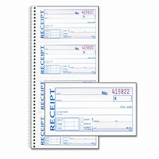 Two-Part Rent Receipt Book, 2 3/4 X 4 3/4, Two-Part Carbonless, 200 Forms