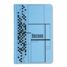 Record Ledger Book, Blue Cloth Cover, 150 Pages, 7 1/2 x 12